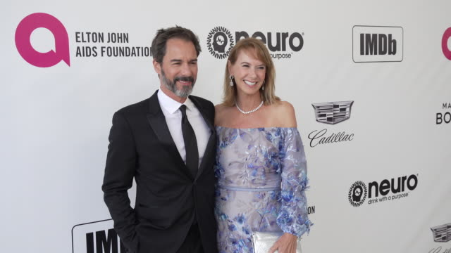 eric mccormack and janet holden at the 27th annual elton john aids foundation academy awards viewing party sponsored by imdb and neuro drinks on... - janet holden stock videos & royalty-free footage