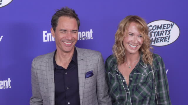 eric mccormack and janet holden at the nbc's comedy starts here event at neuehouse los angeles on september 16 2019 in hollywood california - janet holden stock videos & royalty-free footage