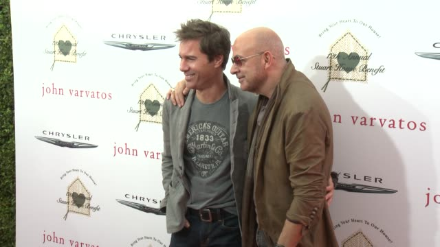 eric mccormack and john varvatos at the john varvatos 12th annual stuart house benefit with honorary chair chris pine hosted by chrysler on april 26,... - eric mccormack stock videos & royalty-free footage