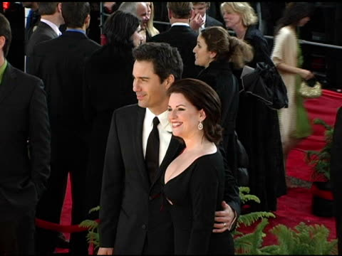 eric mccormack and megan mullally at the 2005 people's choice awards arrivals at the pasadena civic auditorium in pasadena california on january 10... - megan mullally stock videos and b-roll footage