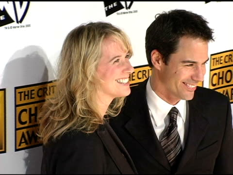 eric mccormack and wife janet holden with parents at the 2005 critics' choice awards at the wiltern theater in los angeles, california on january 10,... - eric mccormack stock videos & royalty-free footage