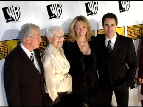eric mccormack and wife janet holden with parents at the 2005 critics' choice awards at the wiltern theater in los angeles california on january 10... - wiltern theatre stock videos and b-roll footage