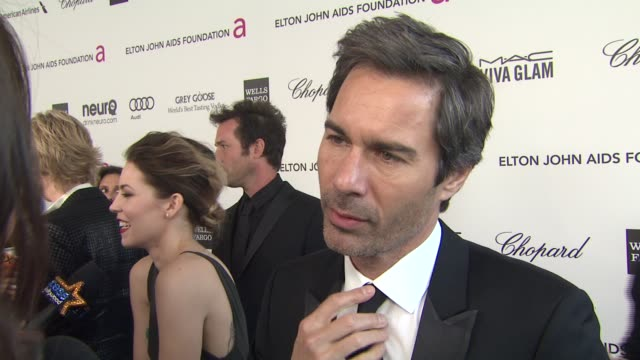 INTERVIEW Eric McCormack at Elton John AIDS Foundation Presents 21st Annual Academy Awards Viewing Party Sponsored By Chopard Neuro Drinks And Wells...