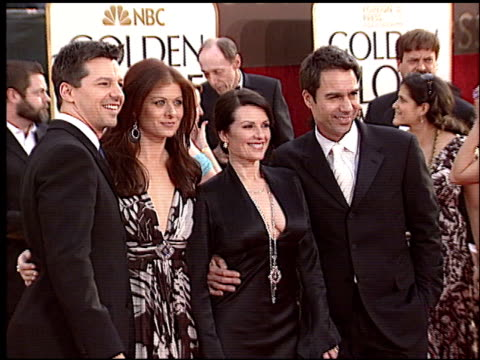 eric mccormack at the 2006 golden globe awards at the beverly hilton in beverly hills, california on january 16, 2006. - eric mccormack stock videos & royalty-free footage