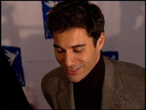 eric mccormack at the divine design gala fund raiser at barker hangar in santa monica california on november 29 2001 - barker hangar stock videos & royalty-free footage