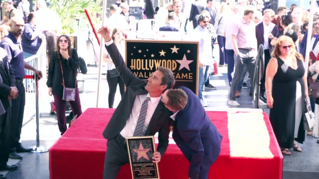 eric mccormack at the eric mccormack honored with a star on the hollywood walk of fame on september 13, 2018 in hollywood, california. - eric mccormack stock videos & royalty-free footage