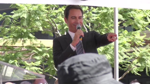 eric mccormack honored with a star on the hollywood walk of fame in hollywood in celebrity sightings in los angeles, - eric mccormack stock videos & royalty-free footage