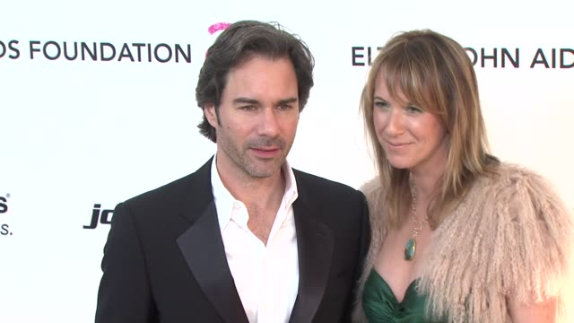 eric mccormack janet leigh holden at the 19th annual elton john aids foundation academy awards viewing party at west hollywood ca - janet holden stock videos & royalty-free footage