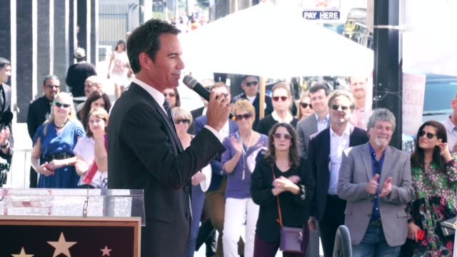 eric mccormack on getting a star and all the people that helped him along the way at the eric mccormack honored with a star on the hollywood walk of... - eric mccormack stock videos & royalty-free footage