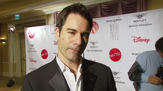 eric mccormack on make-a-wish, a personal wish that came true, the children he's helped, a wish he'd like to have granted in the future at the... - beverly hills hotel stock videos & royalty-free footage