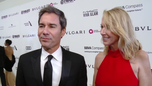 INTERVIEW Eric McCormack on the event at 25th Annual Elton John AIDS Foundation's Academy Awards Viewing Party in Los Angeles CA