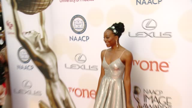 stockvideo's en b-roll-footage met erica ash at the 46th annual naacp image awards arrivals at pasadena civic auditorium on february 06 2015 in pasadena california - pasadena civic auditorium
