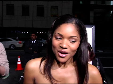 erica hubbard on her character in the film and the audition process at the 'akeelah and the bee' los angeles premiere at academy of motion picture... - academy of motion picture arts and sciences video stock e b–roll