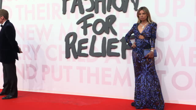 erica pelosini at fashion for relief fashion catwalk - the 71st cannes fillm festival at aeroport cannes mandelieu on may 13, 2018 in cannes, france. - カンヌ・マンデリュー空港点の映像素材/bロール