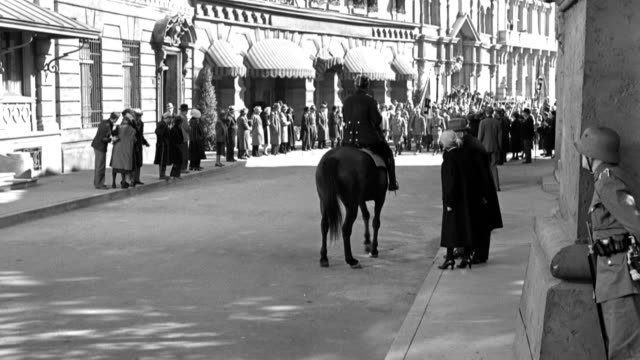 erich ludendorff walks away as adolf hitler and other nazis fall or flee when weimar soldiers shoot to break up a parade. - reenactment stock videos & royalty-free footage