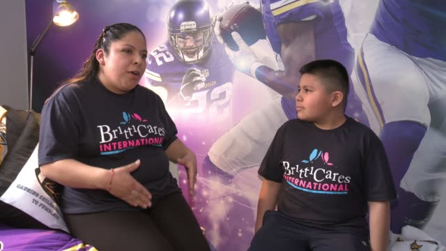 INTERVIEW Ericka Rojas Andrew Rojas at Young Boy Gets FootballThemed Room Makeover With Surprise Visit From Comedian Kevin Hart And Vikings Safety...