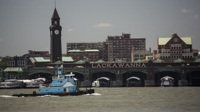 Erie Lackawanna Hoboken NJ, with Boat and jet landing