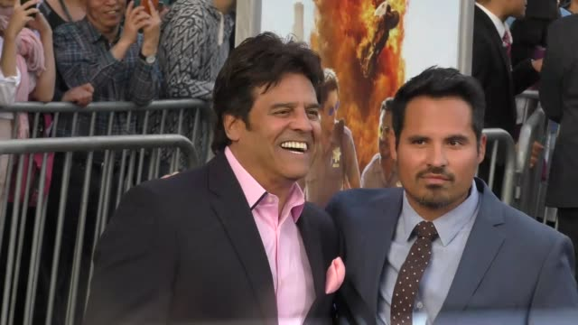 "erik estrada & michael pena at the ""chips"" los angeles premiere at tcl chinese theatre on march 20, 2017 in hollywood, california. - tcl chinese theatre stock videos & royalty-free footage"