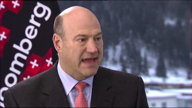 erik shatzker and stephanie ruhle interview gary cohn in davos switzerland - stephanie ruhle stock videos & royalty-free footage