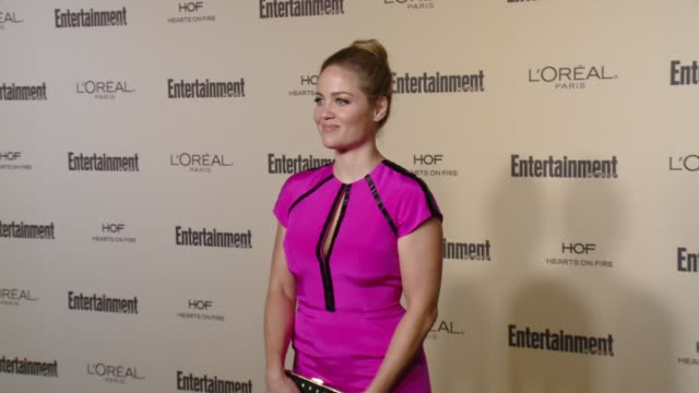 erika christensen at entertainment weekly's preemmy celebration at fig olive melrose place on september 18 2015 in west hollywood california - entertainment weekly stock videos and b-roll footage