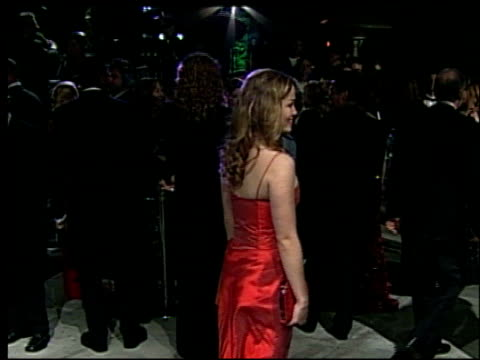 erika christensen at the 2002 academy awards vanity fair party at morton's in west hollywood california on march 24 2002 - オスカーパーティー点の映像素材/bロール