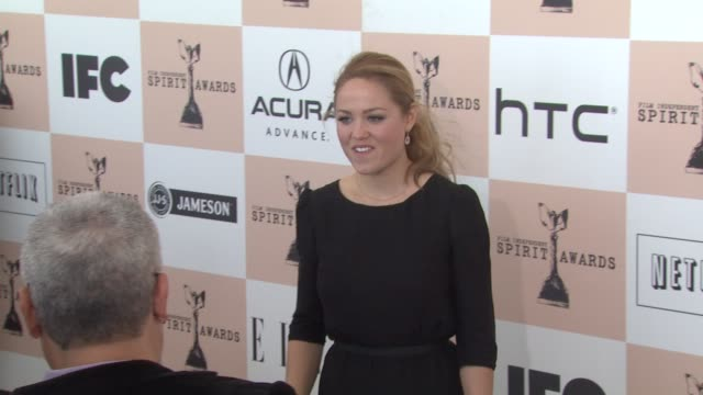erika christensen at the 2011 independent spirit awards arrivals part 2 at santa monica ca - independent feature project stock videos & royalty-free footage