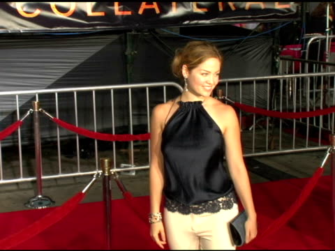 erika christensen at the 'collateral' los angeles premiere at the orpheum theatre in los angeles, california on august 2, 2004. - orpheum theatre stock videos & royalty-free footage