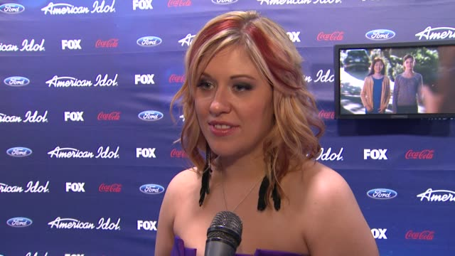 erika van pelt on how it feels to be out here tonight at meet the american idol judges finalists on 3/1/2012 in los angeles ca - american idol stock videos and b-roll footage