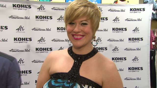 erika van pelt on kohl's 50th birthday why she is here and fashion inspirations at american idol season 11 contestants appear at los angeles kohl's... - american idol stock videos and b-roll footage