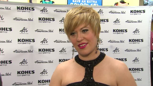 erika van pelt on the upcoming tour preshow rituals and best idol moment at american idol season 11 contestants appear at los angeles kohl's for... - american idol stock videos and b-roll footage