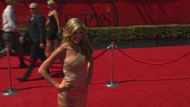 vídeos de stock, filmes e b-roll de erin andrews at the espn's 2010 espys at los angeles ca - espy awards