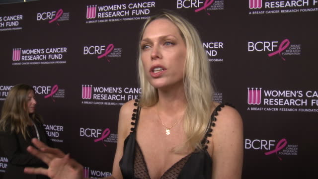 "interview erin foster on why it was important for her to support wcrf bcrf talks about honoree kate hudson at wcrf's ""an unforgettable evening"" in... - kate hudson stock videos & royalty-free footage"
