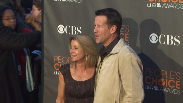 erin o'brien, james denton at the 36th annual people's choice awards at los angeles ca. - people's choice awards stock videos & royalty-free footage