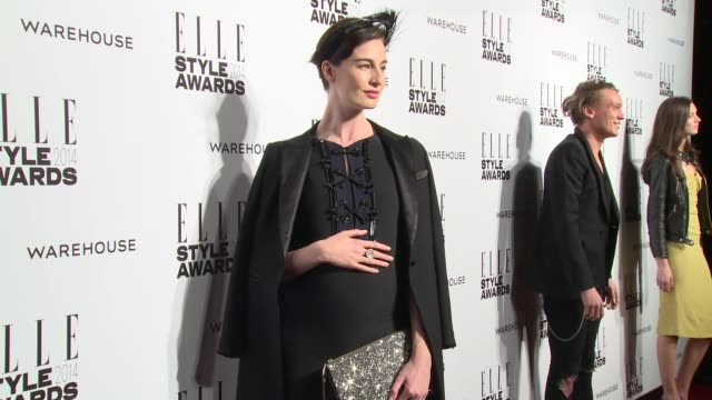 erin o'connor at elle style awards arrivals at one embankment on february 18 2014 in london england - embankment stock videos and b-roll footage