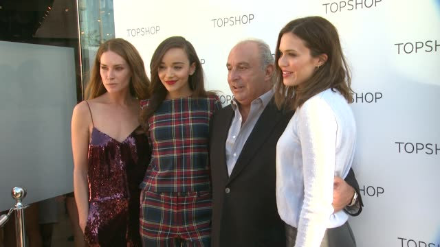 Erin Wasson Ashley Madekwe Sir Philip Green and Mandy Moore at Topshop Celebrates the Holidays at The Grove with a Special Performance by Natalia...