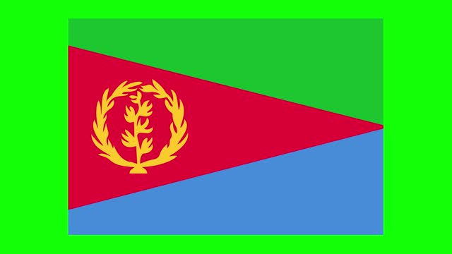 eritrea flag animation on green screen background, chroma key, loopable - horn of africa stock videos & royalty-free footage