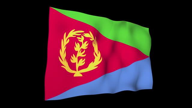 bandiera dell'eritrea - corno d'africa video stock e b–roll