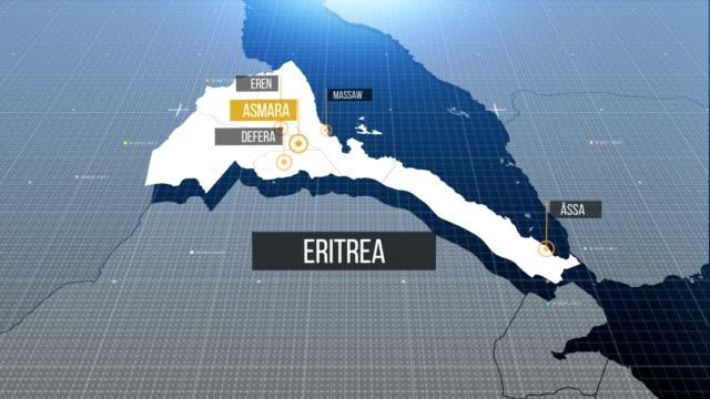 Eritreische Karte mit Etikett dann mit Etikett