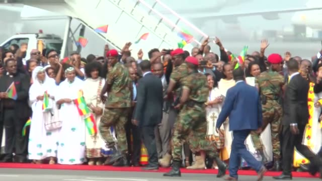 eritrea's president arrived in neighboring ethiopian on saturday for a visit -- the first such visit in two decades -- the result of a fast-tracked... - horn of africa stock videos & royalty-free footage