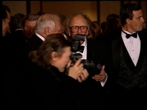 ernest borgnine at the directors guild awards at the century plaza hotel in century city, california on march 7, 1998. - センチュリープラザ点の映像素材/bロール