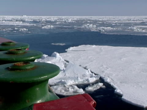 rrs ernest shackleton moving through pack ice in the weddell sea, at the brunt ice shelf, antarctica (ntsc pal 4x3 anamorphic; h264 mpeg4 16x9 square) audio available on masters. - ernest shackleton stock videos & royalty-free footage