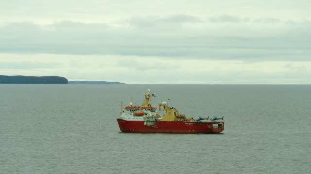rrs ernest shackleton sails near canada - ernest shackleton stock videos & royalty-free footage