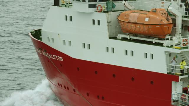 rrs ernest shackleton sails on amundsen gulf - ernest shackleton stock videos & royalty-free footage