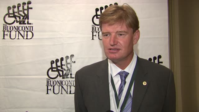 Ernie Els on supporting the fund how he feels about being inducted in the World Golf Hall of Fame at the The 26th Annual Sports Legends Dinner At The...