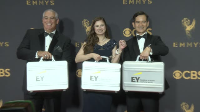 ernst young at the 69th annual primetime emmy awards at microsoft theater on september 17 2017 in los angeles california - emmy awards stock-videos und b-roll-filmmaterial