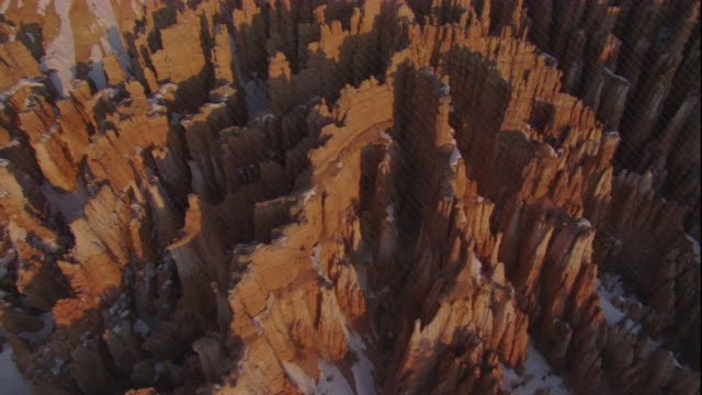 eroded limestone pinnacles in bryce canyon, utah. available in hd. - bryce canyon bildbanksvideor och videomaterial från bakom kulisserna