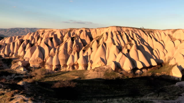 Eroded rock formations in Cappadocia