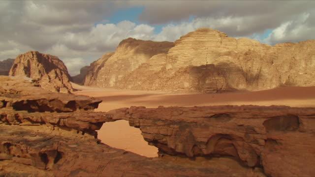 MS Eroded rocks at Wadi Rum valley / Jordan