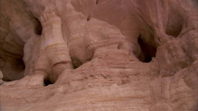 Eroded sandstone in the Timna Valley. Available in HD