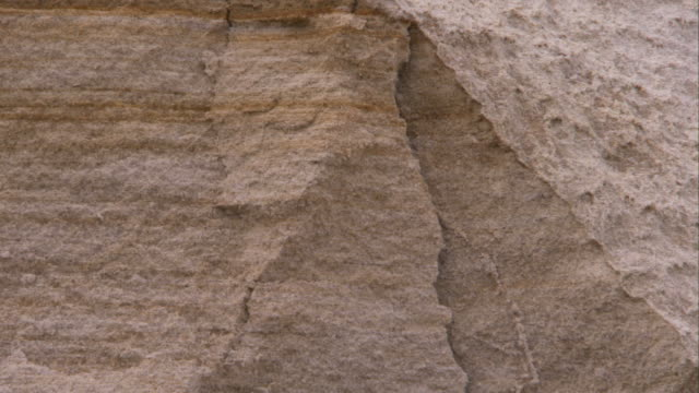 erosion cracks mar coastal sandstone. available in hd. - eroded stock videos & royalty-free footage